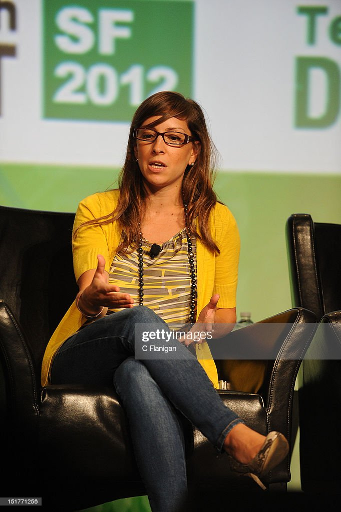 Leah Busque founder of TaskRabbit speaks at the Tech:Crunch Disrupt SF 2012 Conference on September 10, 2012 in San Francisco, California.