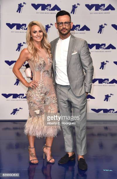 Leah Calvert and guest attends the 2017 MTV Video Music Awards at The Forum on August 27 2017 in Inglewood California