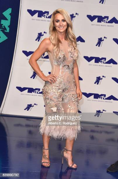 Leah Calvert attends the 2017 MTV Video Music Awards at The Forum on August 27 2017 in Inglewood California