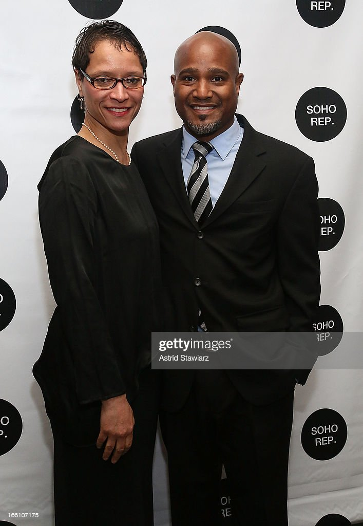 Leah Gardiner and <a gi-track='captionPersonalityLinkClicked' href=/galleries/search?phrase=Seth+Gilliam&family=editorial&specificpeople=2480764 ng-click='$event.stopPropagation()'>Seth Gilliam</a> attend Soho Rep's 2013 Spring Gala on April 8, 2013 in New York, United States.