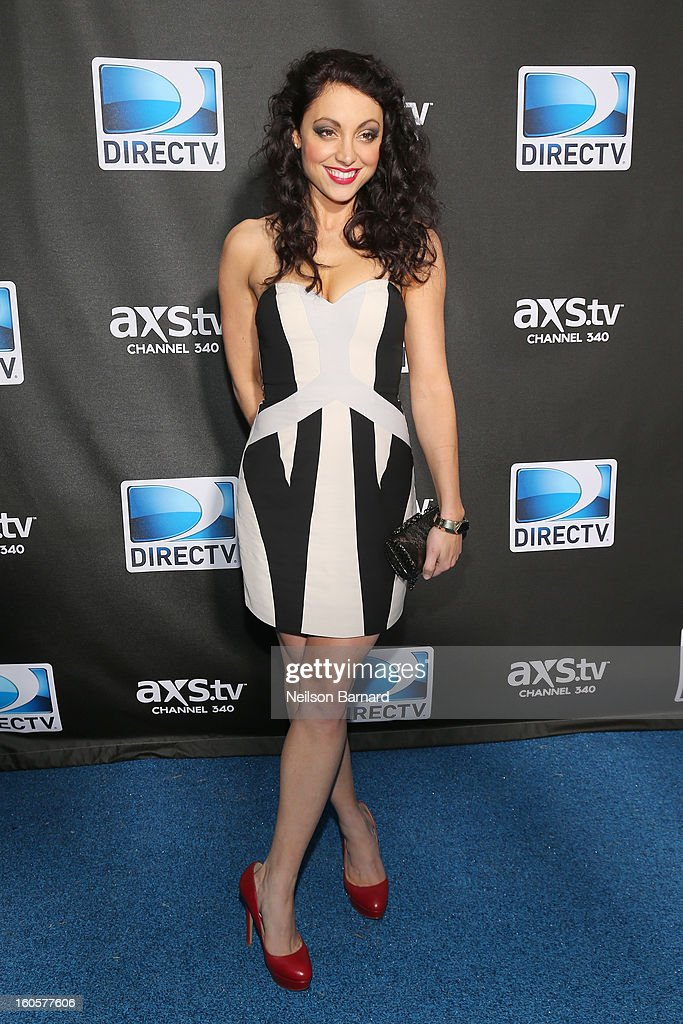 Leah Gibson attends DIRECTV Super Saturday Night Featuring Special Guest Justin Timberlake & Co-Hosted By Mark Cuban's AXS TV on February 2, 2013 in New Orleans, Louisiana.