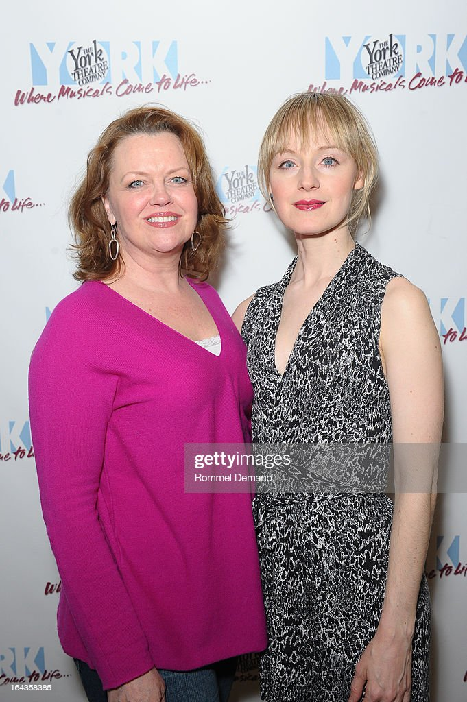 Leah Hocking and <a gi-track='captionPersonalityLinkClicked' href=/galleries/search?phrase=Erin+Davie&family=editorial&specificpeople=4880455 ng-click='$event.stopPropagation()'>Erin Davie</a> attend the off-Broadway opening night of 'Silk Stockings' at The York Theatre at Saint Peter's on March 22, 2013 in New York City.