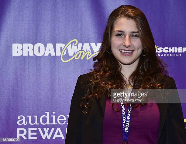 Leah Lane attends BroadwayCon 2017 at The Jacob K Javits Convention Center on January 28 2017 in New York City