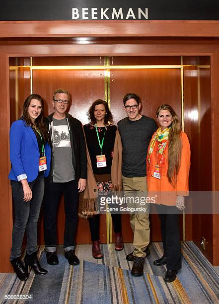 Leah Lane Kevin Hayes Anita Durst Randy Weiner and Bonnie Comley attend BroadwayCon All The World's A Stage With Panelists Bonnie Comley Leah Lane...