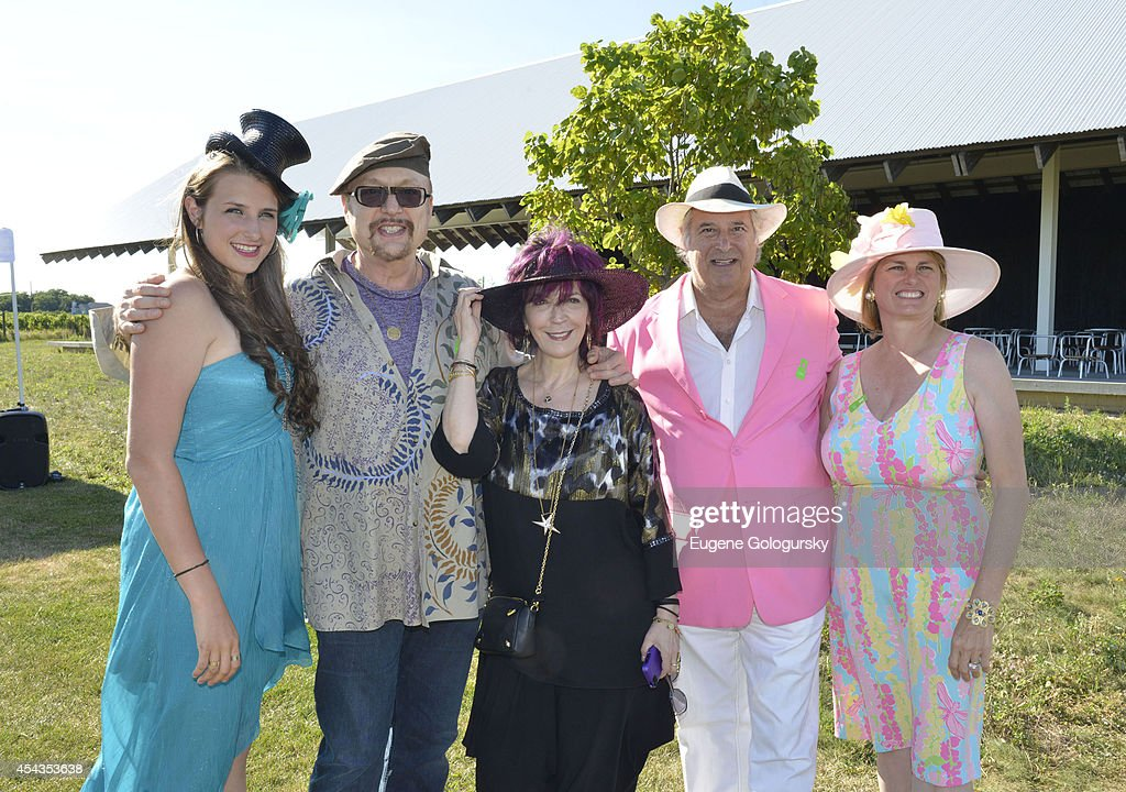 Leah Lane, Monte Faber, Amy Zerner,Stewart F. Lane and Bonnie Comley attend the Naming Celebration For Stewart F. Lane & Bonnie Comley Event Lawn at the Parrish Art Museum on August 29, 2014 in Water Mill, New York.