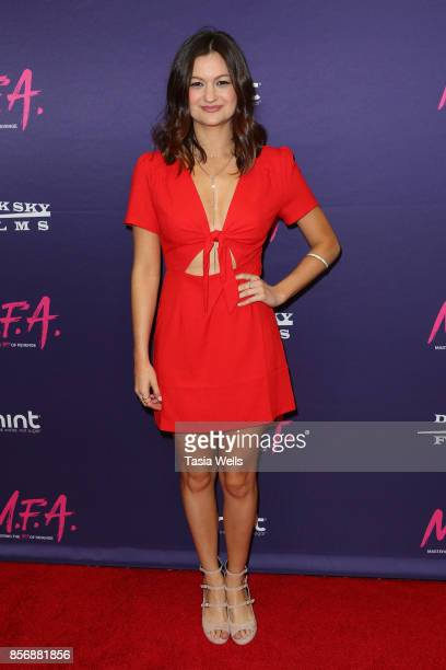 Leah McKendrick at the premiere of Dark Sky Films' 'MFA' at The London West Hollywood on October 2 2017 in West Hollywood California