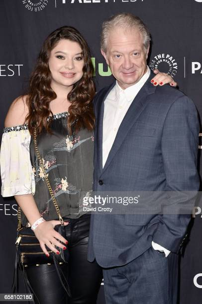 Leah Perry and Jeff Perry attend PaleyFest Los Angeles 2017 'Scandal' at Dolby Theatre on March 26 2017 in Hollywood California