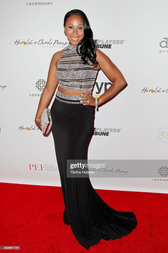 Leah Pump attends the 15th annual Harold and Carole Pump Foundation gala at the Hyatt Regency Century Plaza on August 7, 2015 in Los Angeles, California.