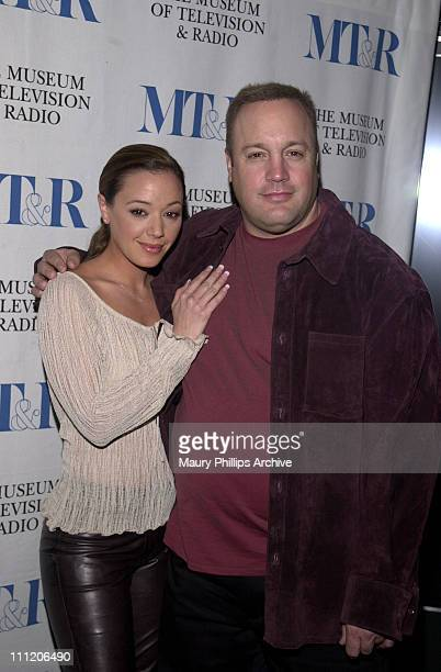 Leah Remini and Kevin James during 19th Annual The William S Paley Television Festival Presents 'The King of Queens' at Directors Guild Theater in...