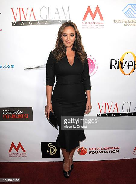 Leah Remini arrives for the Viva Glam Issue Launch Party Hosted by cover girl Leah Remini held at Riviera 31 on June 2 2015 in Beverly Hills...