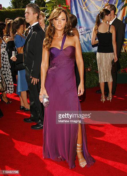 Leah Remini during 58th Annual Primetime Emmy Awards Arrivals at Shrine Auditorium in Los Angeles California United States