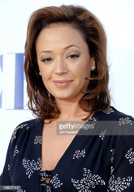 Leah Remini during CBS 2006 TCA Summer Press Tour Party at Rosebowl in Pasadena California United States