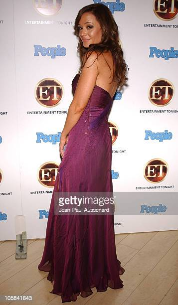 Leah Remini during Entertainment Tonight and People Magazine Emmy After Party Arrivals at Sky Bar in Los Angeles California United States