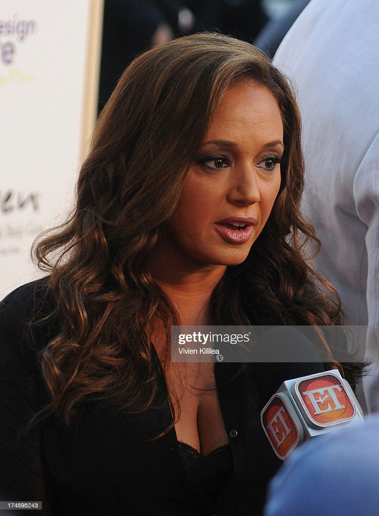 <a gi-track='captionPersonalityLinkClicked' href=/galleries/search?phrase=Leah+Remini&family=editorial&specificpeople=214062 ng-click='$event.stopPropagation()'>Leah Remini</a> takes an interview at 15th Annual DesignCare on July 27, 2013 in Malibu, California.