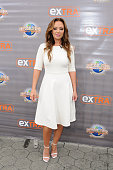 Leah Remini visits 'Extra' at Universal Studios Hollywood on July 7 2015 in Universal City California