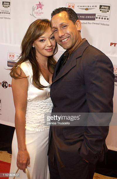 Leah Remini With Fiancee Angelo Pagan during The Lili Clair Foundation 1st Annual Benefit Dinner and Auction at The RitzCarlton in Las Vegas Nevada...