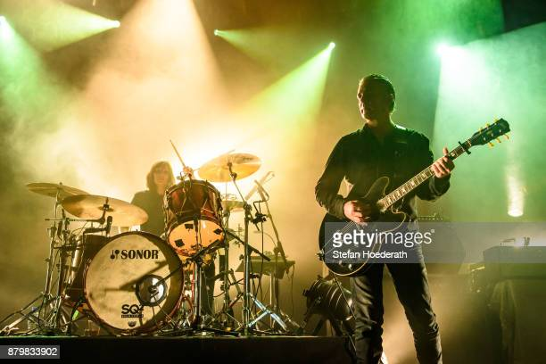 Leah Shapiro and Peter Hayes of Black Rebel Motorcycle Club perform live on stage during a concert at Columbiahalle on November 25 2017 in Berlin...