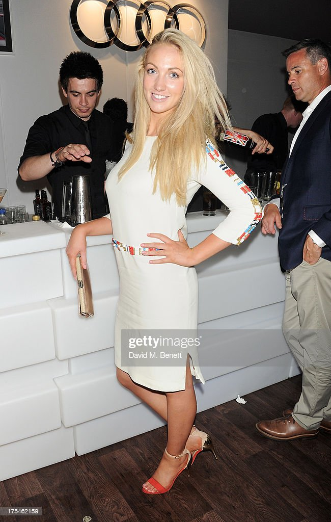 Leah Totton attends day 1 of the Audi Polo Challenge at Coworth Park Polo Club on August 3, 2013 in Ascot, England.