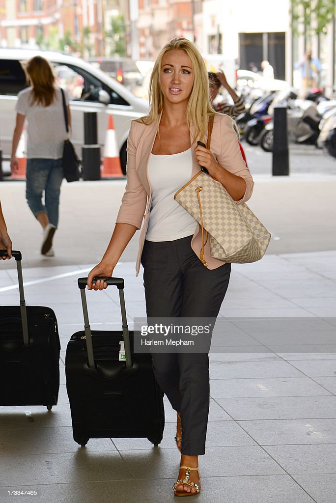 Leah Totton contestant on the apprentice sighted at BBC Radio on July 12, 2013 in London, England.