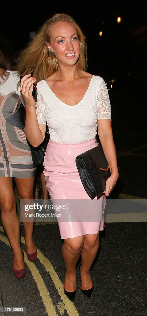 Leah Totton leaving Mahiki night club on August 29, 2013 in London, England.