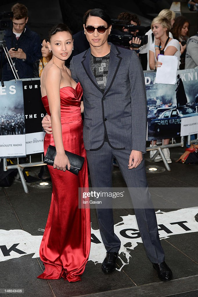 Leah Weller and Natt Weller attend the European premiere of 'The Dark Knight Rises' at Odeon Leicester Square on July 18 2012 in London England