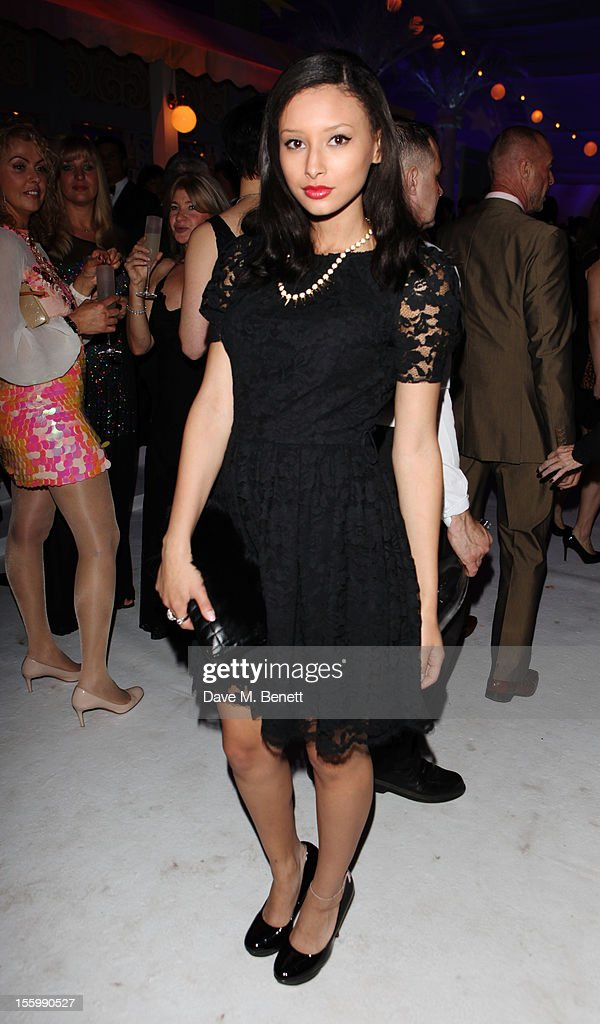 Leah Weller arrives at the Grey Goose Winter Ball at Battersea Power Station on November 10, 2012 in London, England.