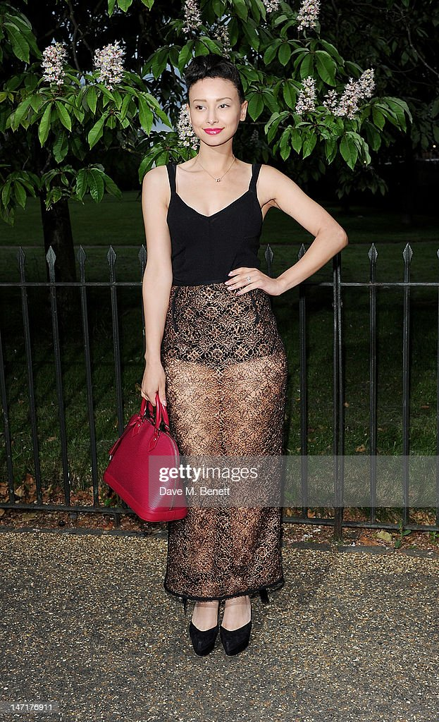 Leah Weller arrives at the Serpentine Gallery Summer Party sponsored by Leon Max at The Serpentine Gallery on June 26, 2012 in London, England.