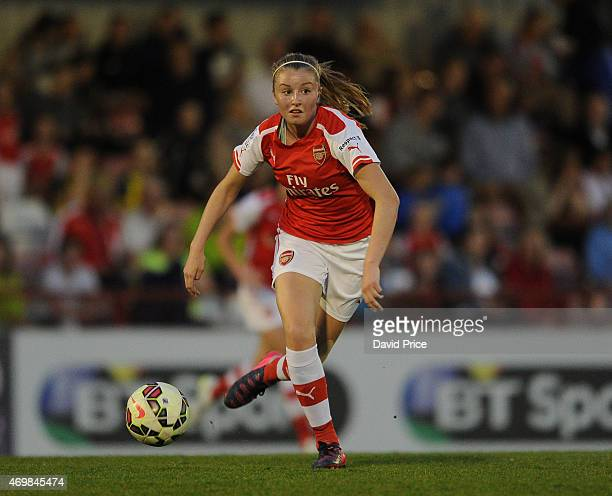 Leah Willaimson of Arsenal during the WSL match between Arsenal Ladies and Bristol Academy at Meadow Park on April 15 2015 in Borehamwood England