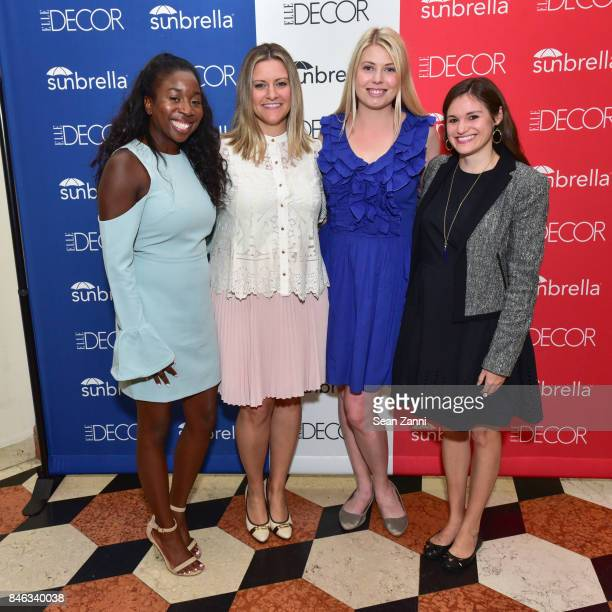 Leah Williams Stephanie Cizinsky Leah Shearer and Mollie Lambert attend ELLE DECOR Celebration of Iconic French Style at the French Consulate on...
