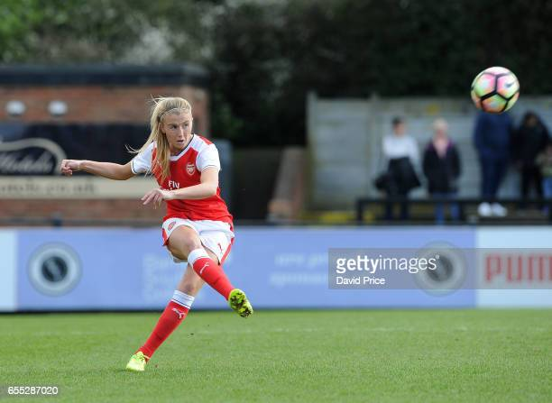Leah Williamson of Arsenal during the match between Arsenal Ladies and Tottenham Hotspur Ladies on March 19 2017 in Borehamwood England