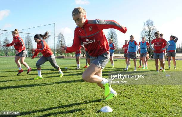 Leah Williamson of Arsenal Ladies during Arsenal Ladies Training Session at London Colney on February 7 2017 in St Albans England