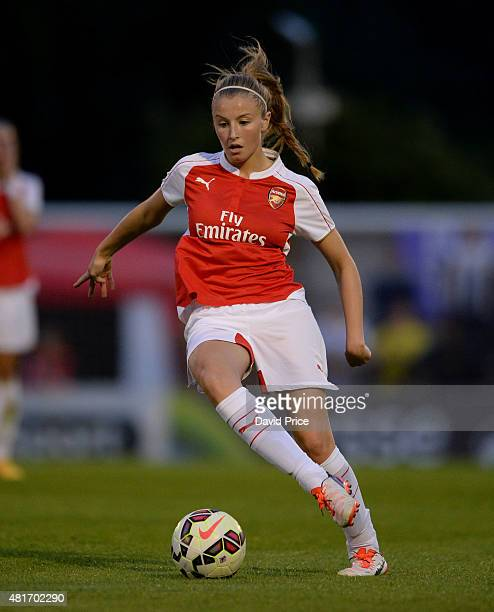 Leah Williamson of Arsenal Ladies during the match between Arsenal Ladies and Watford Ladies at Meadow Park on July 23 2015 in Borehamwood England