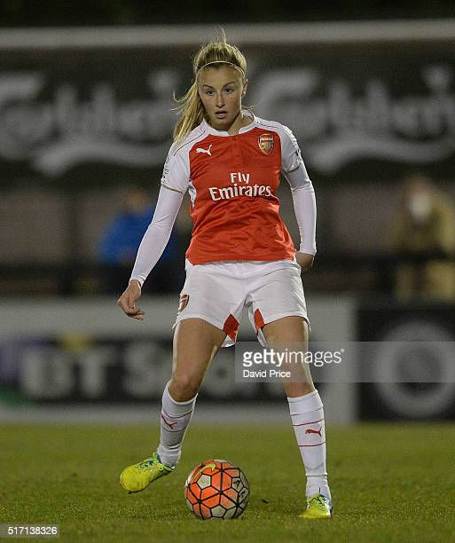 Leah Williamson of Arsenal Ladies during the match between Arsenal Ladies and Reading FC Women on March 23 2016 in Borehamwood England