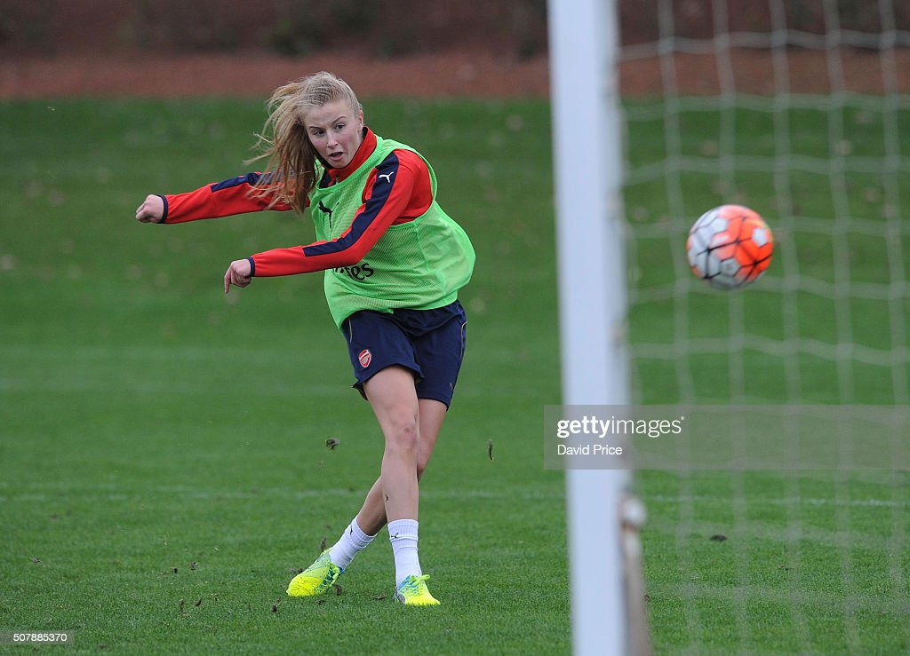 Arsenal Ladies Team Group and Training Session