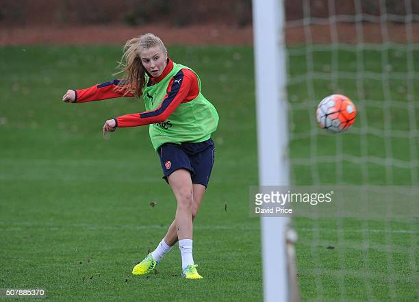 Leah Williamson of Arsenal Ladies during their training session at London Colney on January 29 2016 in St Albans England