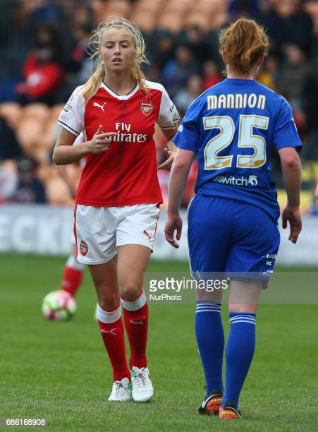 Leah Williamson of Arsenal Ladies during Women's Super League 1 Spring Series match between Arsenal Ladies against Birmingham City Ladies at The Hive...