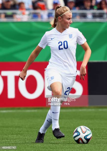 Leah Williamson of England controles the ball during the FIFA U20 Women's World Cup Canada 2014 group C match between England and Mexico at Moncton...