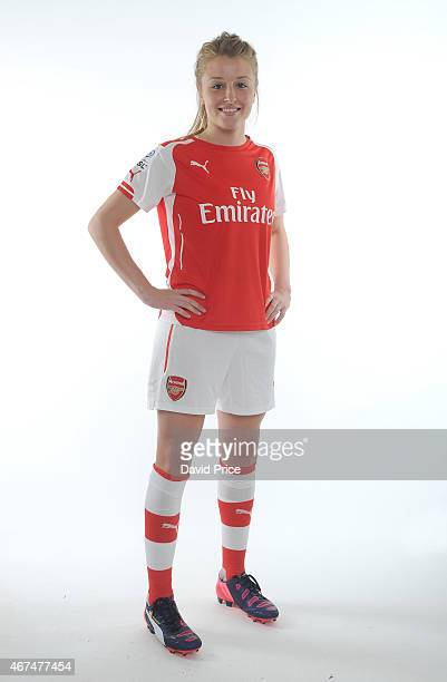 Leah Williamson of the Arsenal Ladies at London Colney on March 24 2015 in St Albans England
