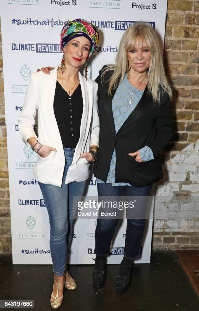 Leah Wood and Jo Wood attend Dame Vivienne Westwood and James Jagger's Mad Max party in aid of climate change during London Fashion Week February...