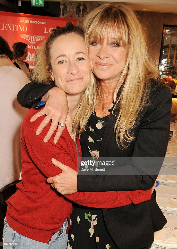 Leah Wood (L) and Jo Wood attend the launch of Cash & Rocket, in aid of the (Red) Rush to Zero campaign, at Banca Restaurant on April 29, 2013 in London, England.