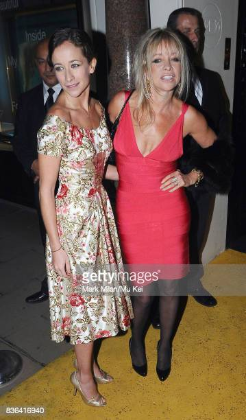 Leah Wood and Jo Wood attending the 'Beautiful Inside My Head' party at Sotheby's auction house in Bond Street on September 12 2008 in London England
