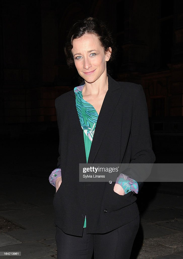 Leah Wood attends the Private View of the 'David Bowie Is' Exhibition held at he Victoria and Albert Museum departures on March 20, 2013 in London, England.