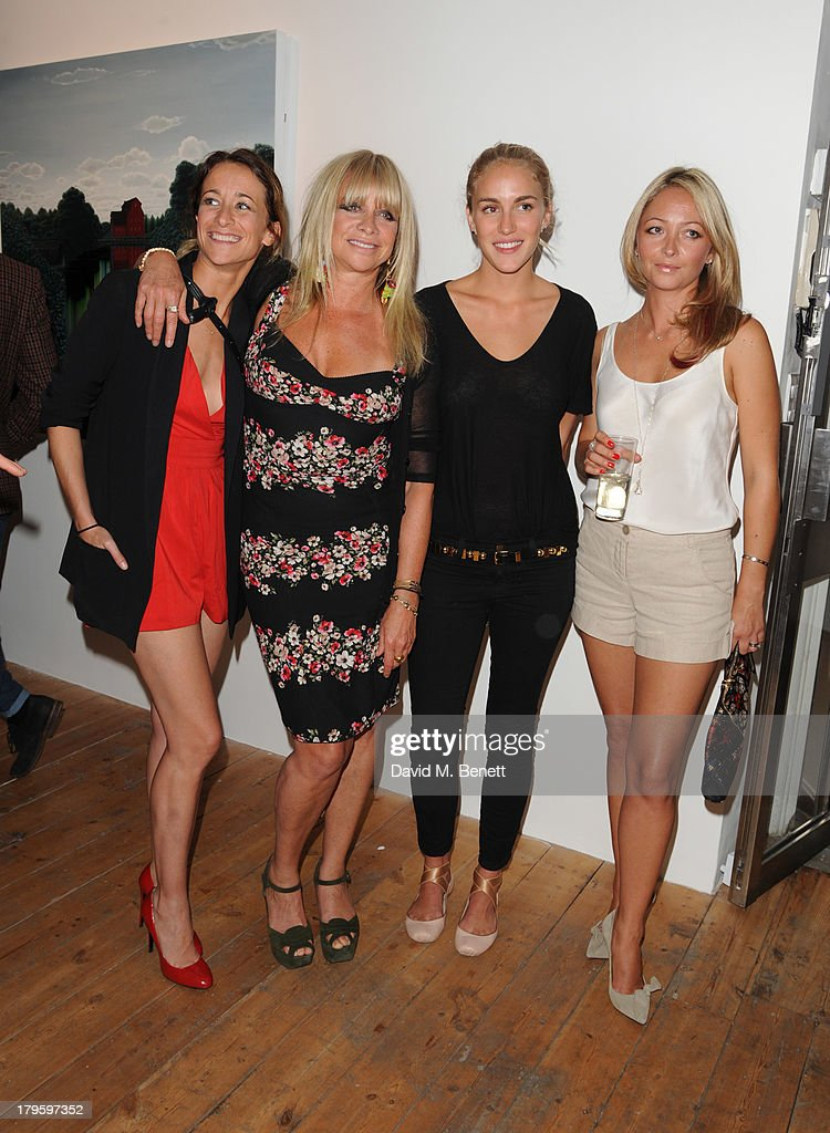 Beth Witson and Jodie Wood attends the VIP launch of the 'Hand To Earth' exhibition hosted by Matthew Williamson at Scream Gallery on September 5, 2013 in London, England.