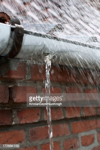 Eavestrough stock photos and pictures getty images for Leaking roof gutter