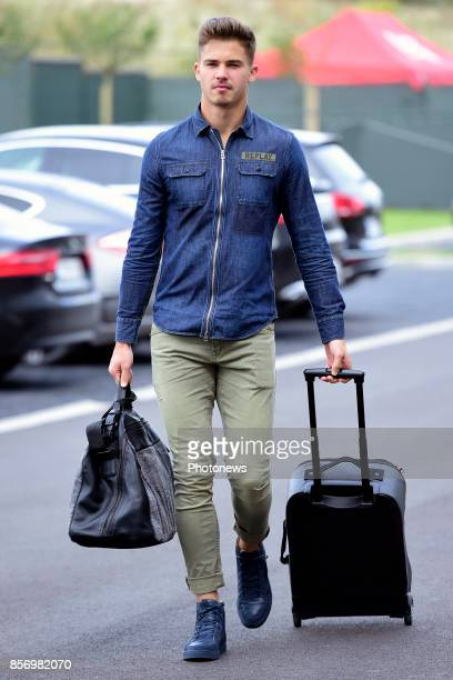 Leander Dendoncker midfielder of Belgium arrives at the Martin's Red hotel prior to the World Cup 2018 qualification games against Bosnia and...