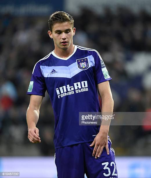 Leander Dendoncker midfielder of RSC Anderlecht disappointed pictured during Jupiler Pro League match between RSC Anderlecht and KVC Westerlo on...