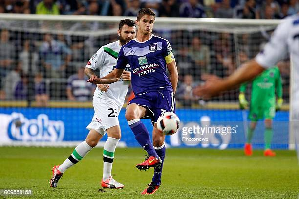 Leander Dendoncker midfielder of RSC Anderlecht pictured during Croky Cup match between RSC Anderlecht and OHL on September 21 2016 in Brussels...
