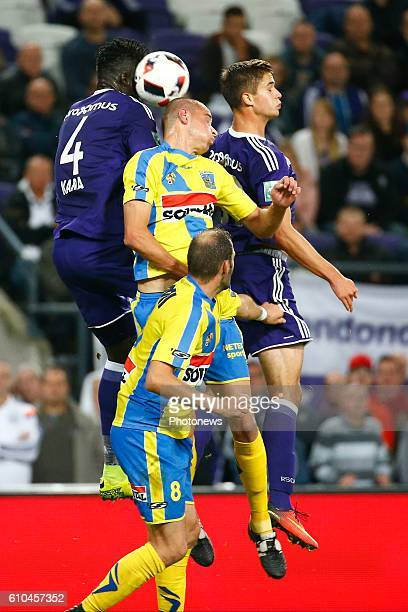 Leander Dendoncker midfielder of RSC Anderlecht pictured during Jupiler Pro League match between RSC Anderlecht and KVC Westerlo on september 25 2016...