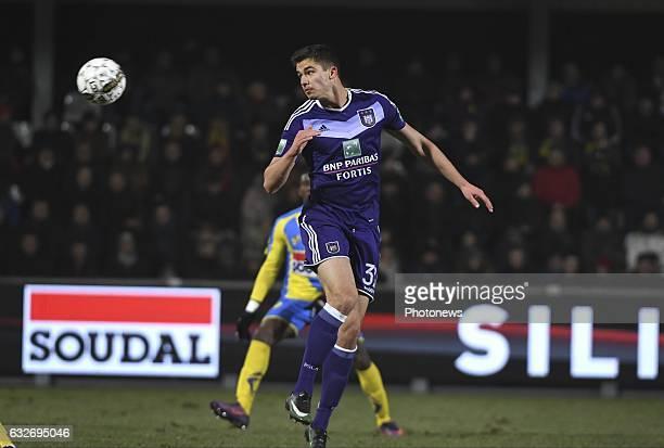 Leander Dendoncker midfielder of RSC Anderlecht pictured during Jupiler Pro League match between Westerlo and RSC Anderlecht on january 25 2017 in...