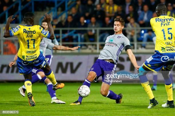 Leander Dendoncker midfielder of RSC Anderlecht pictured during the Jupiler Pro League match between WaaslandBeveren and Rsc Anderlecht on september...